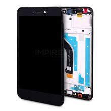 Display mit Rahmen für Huawei P8 Lite 2017 Schwarz