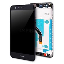 Display mit Rahmen für Huawei P10 Lite Schwarz