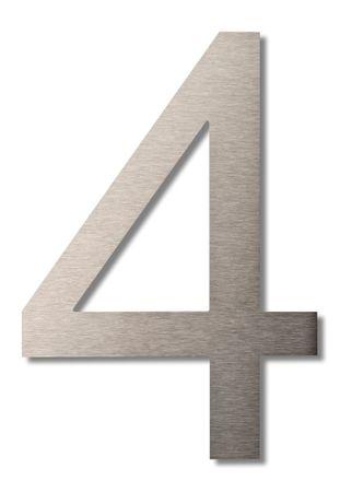 """Hausnummer """"4"""" groß 20cm"""