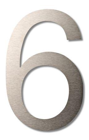 """Hausnummer """"6"""" groß 20cm"""