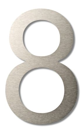 """Hausnummer """"8"""" groß 20cm"""