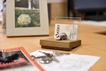 Visitenkartenhalter Faba mit Klarglas  – Bild 3