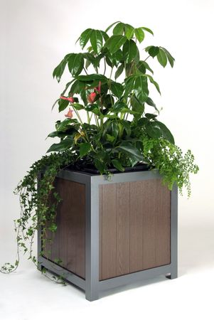 Pflanzkübel cubus wood – Bild 4