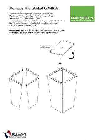 Pflanzkübel Conica Edelstahl – Bild 4