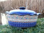 Casserole oval with cover, 16 cm height, Ø 34 x 26 cm, signature 5, BSN m-1989 002