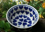 Bowl, 2. choice, Ø 20 cm, height 9 cm, ceramics with heart, BSN m-2442