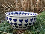 Dish / bowl - Ø 22-24 cm, height 10 cm, ceramics with heart, BSN m-2443