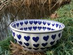Dish / bowl - Ø 22-24 cm, height 10 cm, ceramics with heart, BSN m-2443 Picture 2