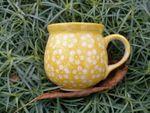 Mug, 300 ml, Ø8 cm, ↑9,5 cm, polish pottery yellow, BSN m-4250