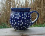 Mug, 300 ml, Ø8 cm, ↑9,5 cm, polish pottery blue, BSN m-4251