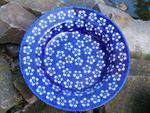 Suppenteller, Ø 24 cm, Höhe 4 cm, 300 ml, Bunzlau blau, BSN m-4340