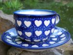 Cup with saucer, Ego portabo in corde meo, BSN s-223 Picture 4