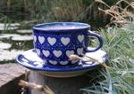 Cup with saucer, Ego portabo in corde meo, BSN s-223 Picture 3
