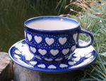 Cup with saucer, Ego portabo in corde meo, BSN s-223