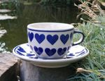 Kop og underkop, Keramik med hjerte, BSN s-219