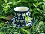 Espresso cup and saucer, 70 - 80 ml, I love you too, BSN m-683