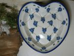 Heart baking tin, 21 x 18 cm, 6 cm high, Tradition 8 - polish pottery - BSN 7374