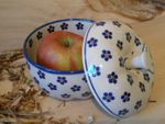 Baking tin for apple, Ø 12 cm, 12 cm high, Tradition 3 - polish pottery - BSN 4878