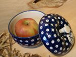 Baking tin for apple, Ø 12 cm, 12 cm high, Tradition 5 - polish pottery - BSN 4877