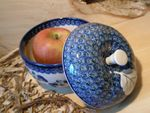 Baking tin for apple, Ø 12 cm, 12 cm high, Tradition 9 - polish pottery - BSN 2565 Picture 2