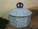 Box for biscuits, 1500 ml volume, 17 cm high, Tradition 12 - polish pottery - BSN 7263