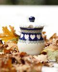 Mustard pot, 200 ml, ↑11 cm, White Valentine, BSN R-098