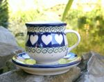 Espresso cup and saucer 70 - 80 ml - White Valentine, BSN R-063 Picture 1