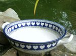Bowl / dish with handle, Ø 20 cm, ↑5 cm, White Valentine, BSN R-086