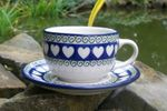 Cup with saucer (200 ml), White Valentine, BSN R-127
