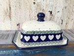 Small Boter Dish, 15x11x8 cm, White Valentine, BSN R-143