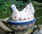 Chicken as egg cosy, 2. choice, 17 x 11 cm, 14 cm high, Julia, BSN J-721 Picture 1