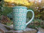 Mug - volume: 250 ml - high 11 cm - Polish pottery mint, BSN J-939