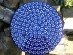 Cake plate, 33 x 3 cm, Polish pottery blue, BSN J-978 Picture 3