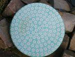 Cake plate, 33 x 3 cm, Polish pottery mint, BSN J-981