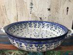 Bowl / dish with handle, Ø 20 cm, ↑5 cm, Ivy, BSN J-996