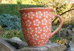 Mug, 400 ml, Ø 10,5 cm, ↑ 11 cm, Polish pottery orange, BSN J-1067