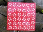 Coaster, 2. choice, 15 x 15 cm, Polish pottery red - BSN J-1100