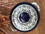 Løg Pot, Polske Keramik retter, 1,5 l, 18 x 19 cm, Summer Wind - BSN J-1573 Billede 3