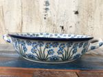 Bowl / dish with handle, Ø 20 cm, ↑5 cm, Forget me not, BSN J-1857 Picture 2