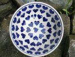 Bowl, Ø 20 cm, Ceramic with heart, BSN J-2181