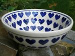 Bowl, Ø 23-24 cm, ↑9 cm, vol. 1500 ml, Ceramic with heart, BSN J-2182