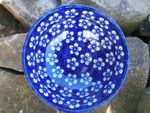 Bowl Ø14-15 cm, ↑5.5 cm, volume 300 ml, Bunzlau blue, BSN J-2331