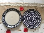 Togetherness, set of 2 Plate, Ø 25,5 cm, - polish pottery - BSN J-4630