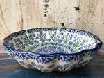 Bowl with rippled side, Ø 24 cm, high 6 cm, Forget me not, BSN J-4826 Picture 2