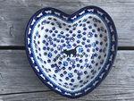 Heart baking tin, 21x18 cm, ↑6 cm, cat, BSN A-0020