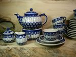 Complete service for 6 pers. with pot & warmer, 2. choice, Tradition 13 - polish pottery - BSN 21539