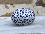 Tin as egg, 13 x 10 x 10 cm, Crazy Dots, BSN A-0316 Picture 4