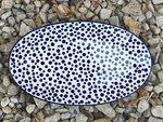 Platte, oval, 45,5 x 27 cm, Crazy Dots, BSN A-0327