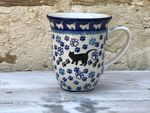 Mug, v. 450 ml, 12 cm high, cat, BSN A-0076