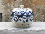 Bagt Apple bradepande, Polsk Keramik, Ø 12 cm, 12 cm høje, Lady, BSN A-0471